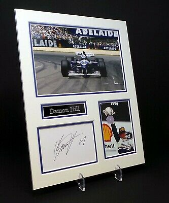 Damon HILL Signed Mounted Photo Display AFTAL Former Formula One Champion