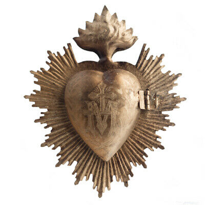 Sacred Heart, Milagro Heart, Gold Heart Box, Catholic Heart, Prayer Box