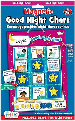 Fiesta Crafts MAGNETIC GOOD NIGHT CHART Educational Childrens Toy BNIP