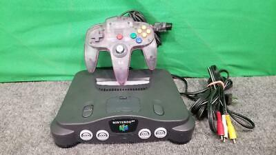 N64 Game Console Complete System Nintendo 64 NUS-001 Tested Works Gr (SS2032442)