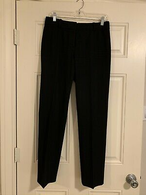 Ann Taylor Womens Career Dress Pants Size 4 Gray Signature Straight Leg Mid Rise