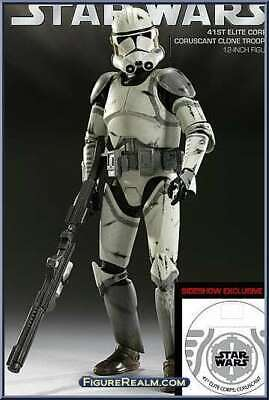 SIDESHOW EXCLUSIVE 41st Elite Corps Clone Trooper Coruscant STAR WARS 1:6 12""
