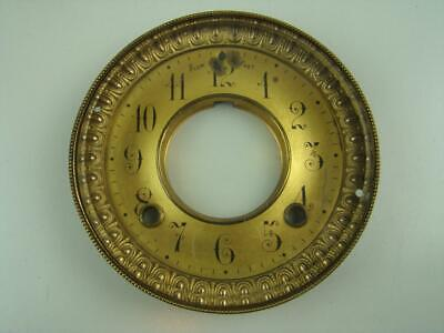Antique Ansonia Mantel Iron Clock Dial Bezel Glass