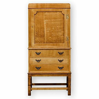 Arts & Crafts Lakes School English Oak Oak Cabinet with drawers