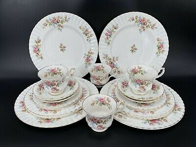Royal Albert Moss Rose 5 Piece Plate Settings for 4 Bone China 20 Pieces