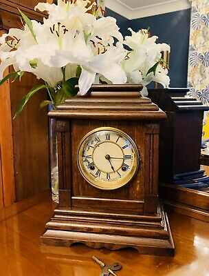 Large Rare 8 Day Mantle clock by the Waterbury Clock Company Dated 1918
