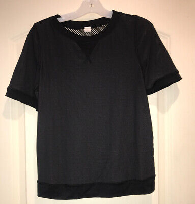 Girls Ivivva By Lululemon Black Short Sleeve Shirt Sz 8