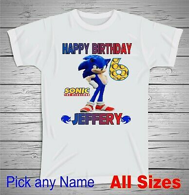 Custom Shadow Hedgehog Youth T Shirt Personalize Birthday Gift Adult Sonic Sega 9 99 Picclick