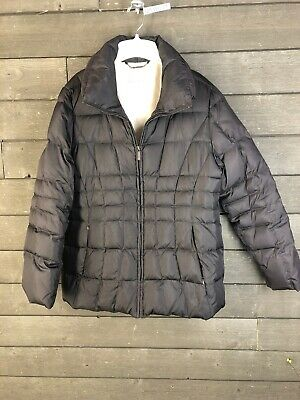 Calvin Klein 125 Brown Quilted Puffer Coat Women's L