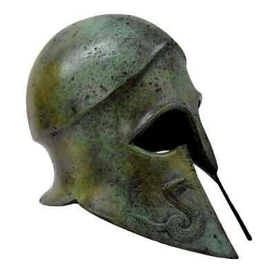 Bronze Corinthian Helmet with Snakes - Museum Replica Artifact - Spartans