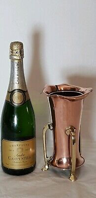 Beautiful Arts & Crafts  Art Nouveau Copper & Brass 3 Legged Vase English Made.
