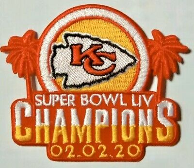"KANSAS CITY CHIEFS SUPERBOWL 54 LIV CHAMPIONS Patch Iron On 3.5 ""NFL 2019 2020 !"