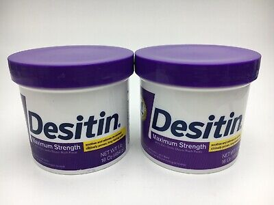 Desitin Maximum Strength Diaper Rash Paste 16oz (2 Pak-1 Unsealed) 01/21 NEW C6C