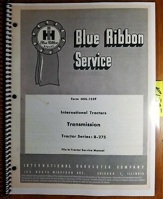 IH International B-275 B-414 B-434 Tractor Transmission Service Manual GSS-1239