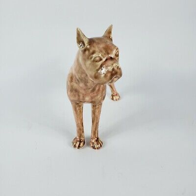 Brown Standing Boxer Dog Statue Unbranded