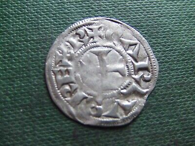 France.   Charles The Bald.  875Ad.  Silver Denier.    Really Nice Condition.