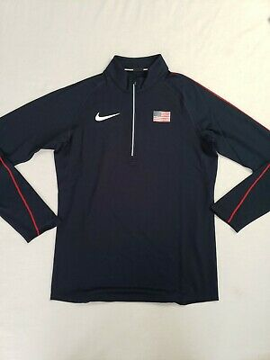 Nike Pro Elite Dri Fit Zip Track and Field Olympic USA rare Oregon Mens Small