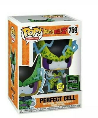 Funko Pop! Perfect Cell GITD 2020 ECCC Shared Exclusive DBZ Preorder march