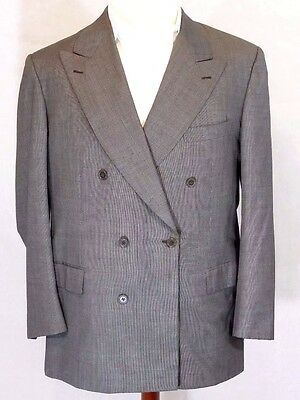 "BRIONI""PLINIO""Mens 43R/43 R-Gray Wool Double-Breast Suit Jacket (42R-44R)ITALY"