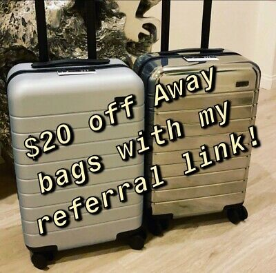 Away Luggage Coupon $20 OFF Any Suitcase or Bag Bigger Carryon Travel