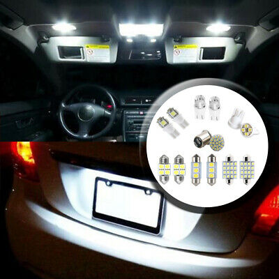 14x SUV Car Interior Package LED Map Dome License Plate Mixed Light Accessories