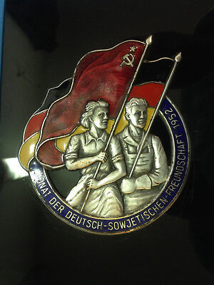 Pin Badge. Plaque. History of the USSR. Germany 1952. Rare!