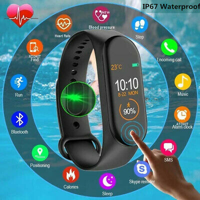 M4 Smart Band Watch Bracelet Blood Pressure HeartRate Fitness Tracker Wristband