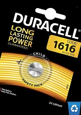Duracell CR1616  X1 3V Lithium Coin Cell Battery Expires END 2028  One Battery