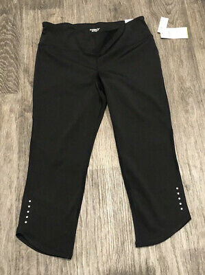 NWT: Old Navy Active Black Mid Rise GO-DRY Cropped Yoga Leggings Size Large
