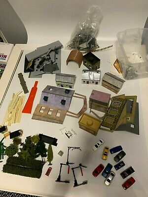 OO HO gauge Job Lot Of Spare Hornby & Other Made Model Railway Buildings & Parts