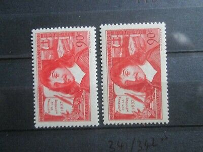 Timbres France Yt 341/342  Neuf Xx