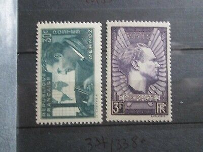 Timbres France Yt 337/338  Neuf Xx