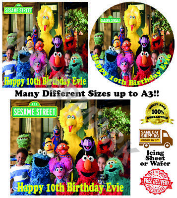 Sesame Street Personalised Edible Wafer Icing Cake Topper Costco Size upto A3