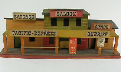 Elastolin - PACIFIC EXPRESS - SALOON - SHERIFF - Holz Cowboy Western Haus Fort