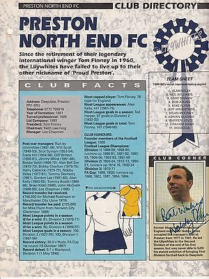 Nobby Stiles Autographed Preston North End Club Directory
