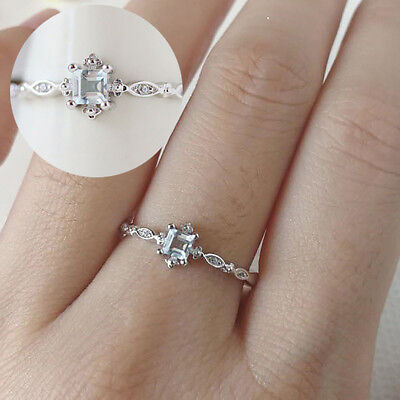 GC- BU_ Fashion Wedding Engagement Promise Ring Women's Finger Ring Jewelry Gift