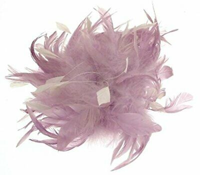 Wedding Fascinator Lilac Feathers Hair Comb Attachment 23 cms