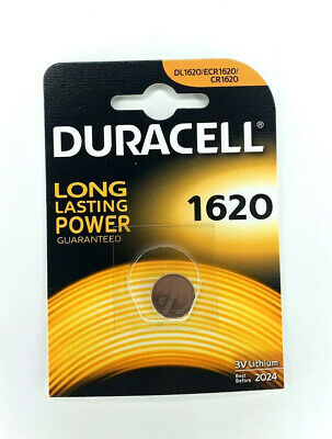 Duracell CR1620 3V Lithium Coin Cell Battery 1620 DL1620 BR1620