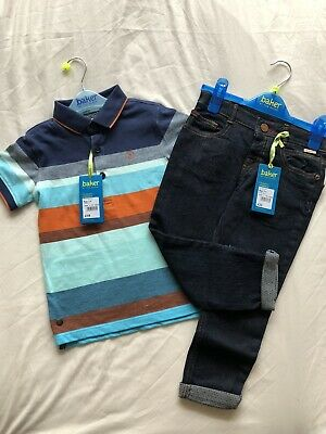 Ted Baker Boys Jean And Polo Tshirt Age 3-4 Years New With Tag