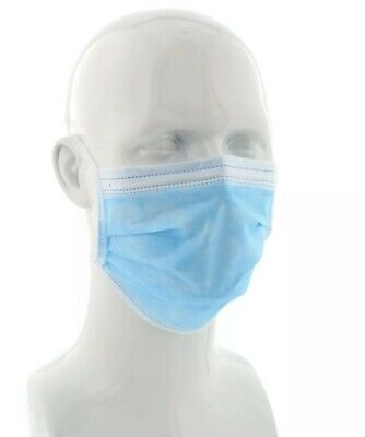 50 x surgical tie-on face mask flu, bacteria, medical UK stock CE mark BFE 99%