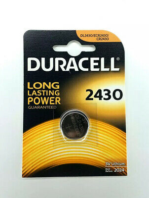 Duracell CR2430 3V Lithium Coin Cell Battery 2430 DL2430