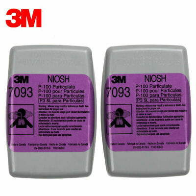 3M 7093 P100 Particulate Respirator Filter Fits 5000,6000,7000 Series, 1 PAIR