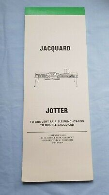 Silver Reed Brother Knitting Machine Rare Fair Isle To Jacquard Conversion Cards