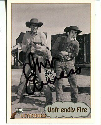 Gunsmoke JAMES ARNESS signed AUTOGRAPH 3480