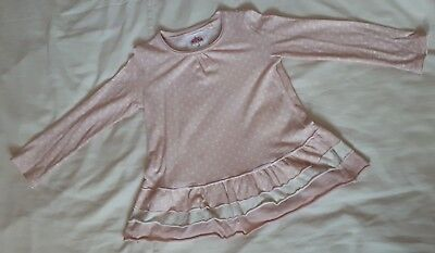 Girls Next Pink Polkadot Blouse Dress Top Age 3-4 Years Absolutely Immaculate