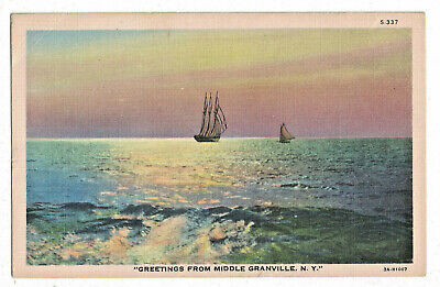 Scenic Water View Middle Granville, New York Postcard 1919 Post