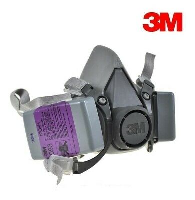 3M 6300 Half Facepiece Respirator W/ 2 Each 7093 P100 Particulate Filter, LARGE