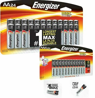 Energizer Alkaline AA & AAA Max Battery (24+24-Pack) New Exp.12/2029