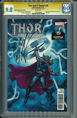 Thor: God of Thunder #25 Marvel CGC 9.8 Signed by Chris Hemsworth
