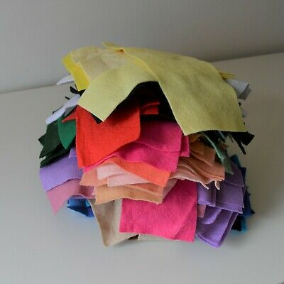 Big Parcel of Craft Felt Scraps | Wool Mix | 450g | 100+ pieces | As Pictured